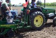 Small ndsu team members on tractor